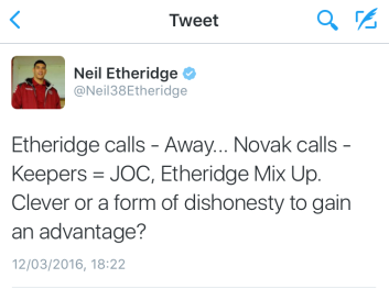 Etheridge tweet